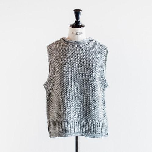 Acrylic Wool Knit 2way Vest