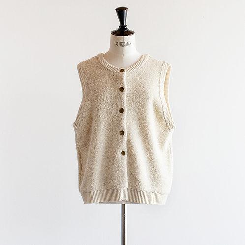 Wool Mix Pile Knit 2way Vest