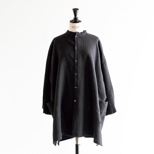 Wool Cotton Linen Side Pocket Shirt Tunic