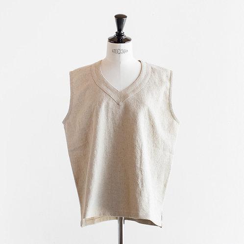Cotton Linen Pullover Vest