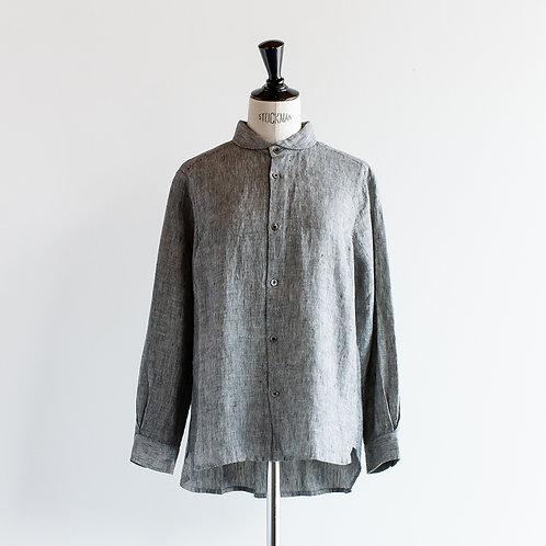 Linen Round Collar Shirt