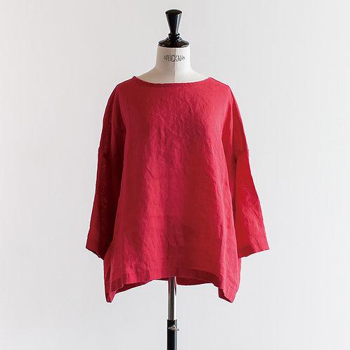 Belgium Linen Back Gather Pullover