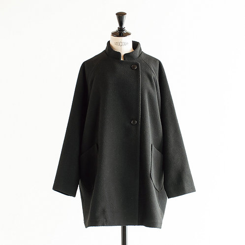Wool Mix Wide Middle Coat