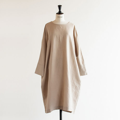 Wool Cotton Linen Pullover Dolman Onepiece
