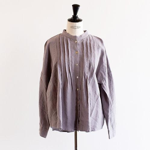 Linen Tuck Stand Shirt
