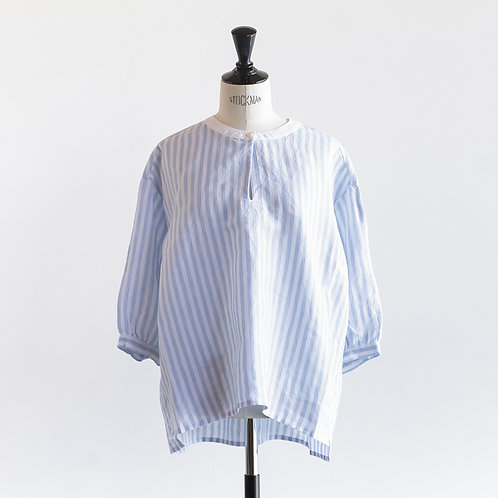 Linen Stripe Cleric Pullove