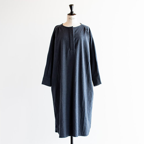 Cotton Chambray Gather Onepiece