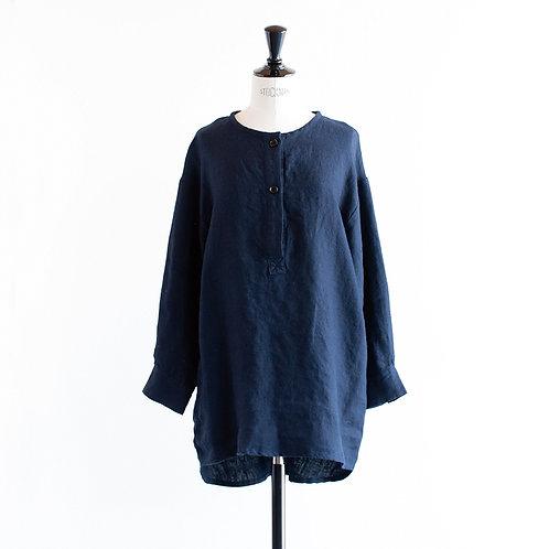Wool Linen Henleyneck  Tunic