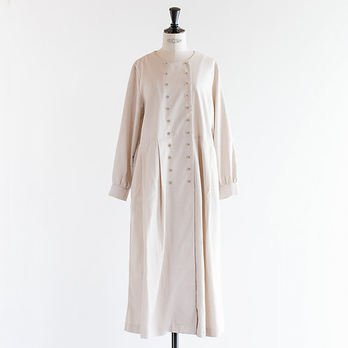 Cotton Linen Double Button Onepiece