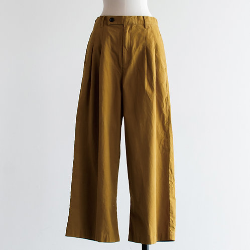 Cotton Twill Tuck Pants