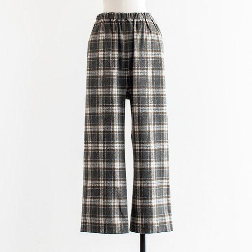 Wool Mix Check Easy Pants