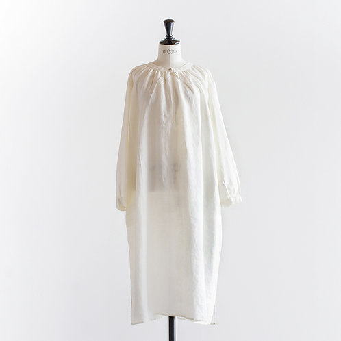 Linen Gather Key Neck Onepiece