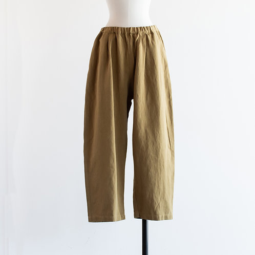 Cotton Linen Twill Tapered Pants