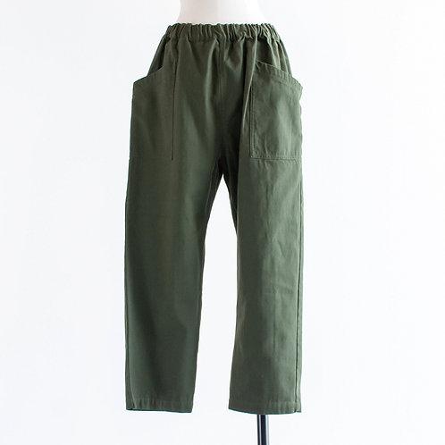 Cotton Herringbone Pocket Pants