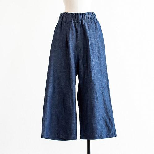 Cotton Linen Denim Wide Pants