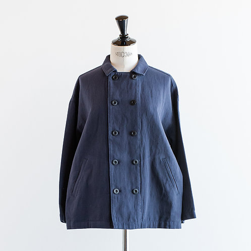 Cotton Linen Twill Double-Breasted Jacket