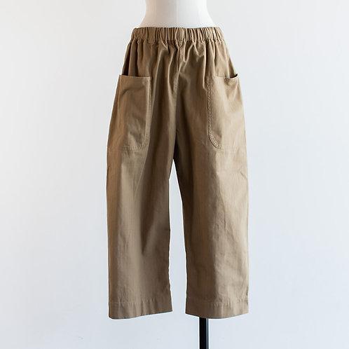 Cotton Herringbone Big Pocket Pants