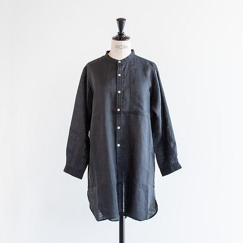 Ramie Band Collar Shirts Tunic