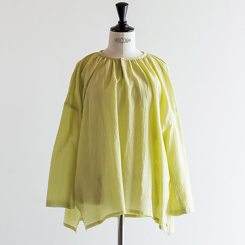 Cotton Boil Round Gather Blouse