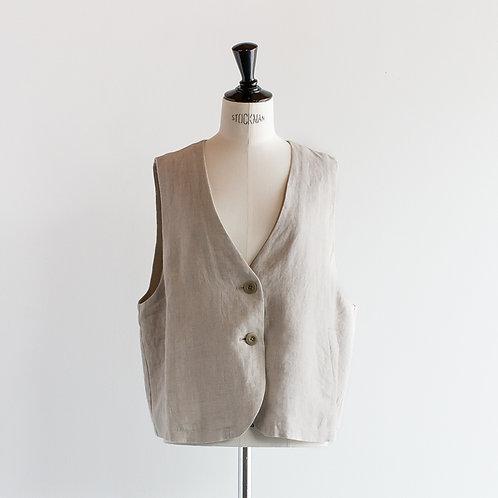 Linen Chambray Vest