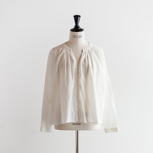 Cotton Linen Pleats Blouse