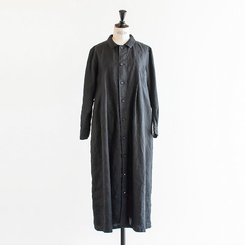 Heavy Linen Long Shirt Onepiece
