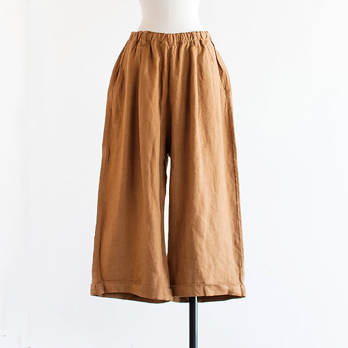Wool Linen Wide Long Pants