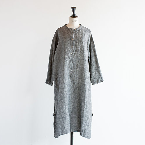 Linen Chambray Henry Neck Onepiece