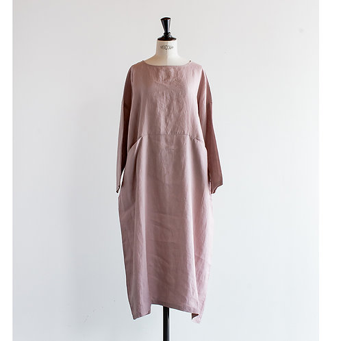 Linen Front Pocket Pullover Onepiece