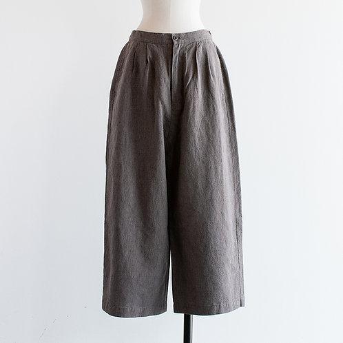 Linen Chambray Wide Pants