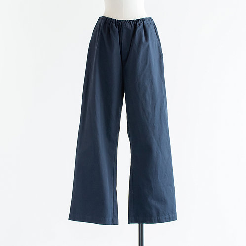 Cotton Twill Wide Pants
