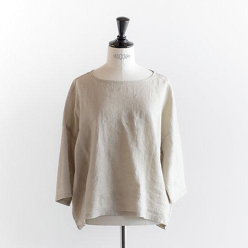 Linen Gauze Gather Sleeve Pullover