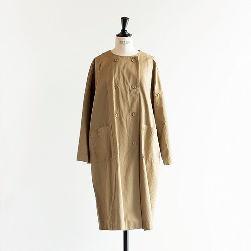 Cotton Twill Double Button Coat