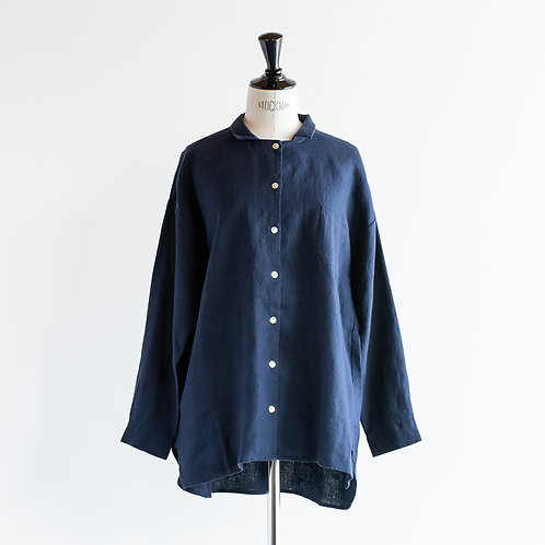 Linen Long Wide Shirt