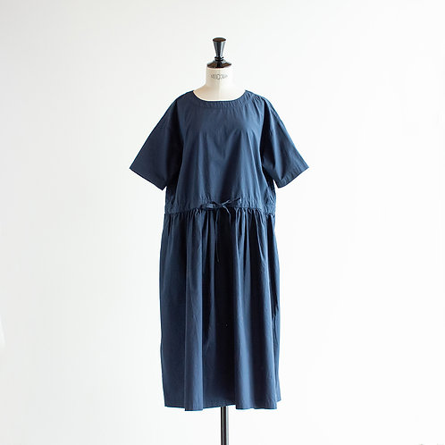 Cotton Typewriter Waist Gather Onepiece