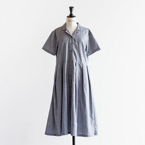 Cotton Linen Opencollar Shirts Onepiece