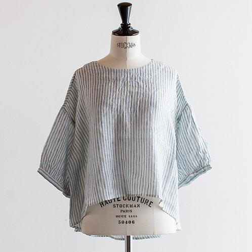 Linen Gather Sleeve Blouse
