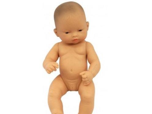 Miniland Anatomically Correct Baby Doll Asian Girl