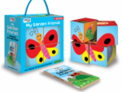 Sassi Junior Book & Eco Blocks - My Garden Friends