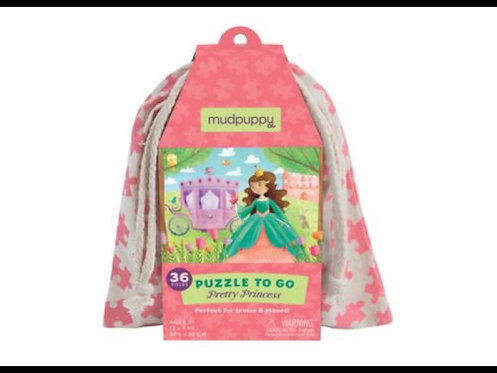 Mudpuppy To Go Puzzle - Pretty Princess