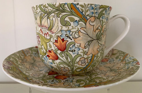 Heritage Bone China B'fast Cup/Saucer- Golden Lily