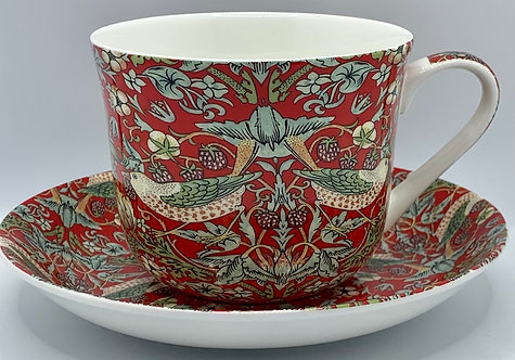 Heritage Bone China B'fast Cup/Saucer- Strawberry Thief