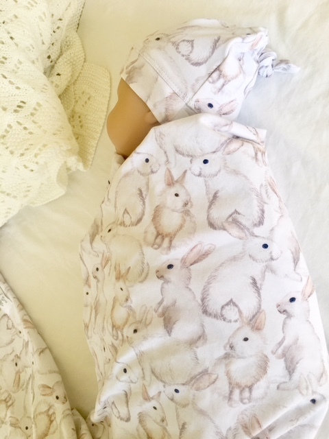 Tilly & Otto Couture Stretchy Swaddle- My Bunny