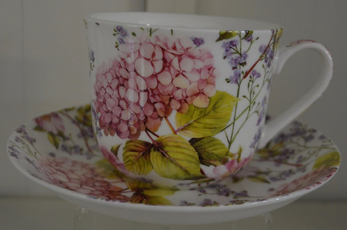 Heritage Bone China B'fast Cup/Saucer- Midsummer