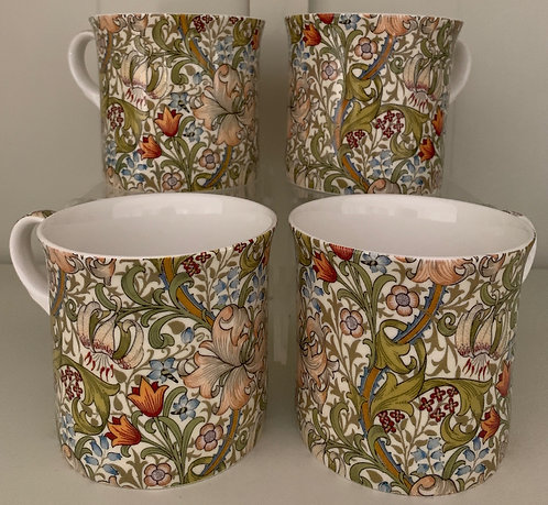 Heritage Fine Bone China Mug Set 4 - Golden Lily