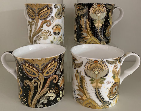 Heritage Fine Bone China Princess Mug Set 4 - Pacifica