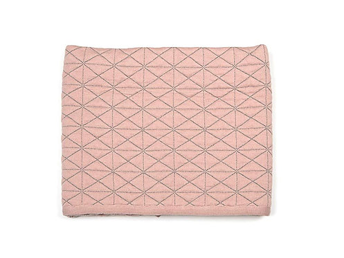 Indus Cotton Playmat or Cot/Pram Blanket - Quilted Blush