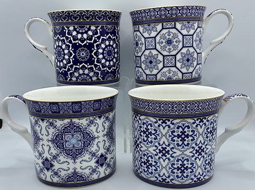 Heritage Fine Bone China Mug Set 4 - Venetian Blue