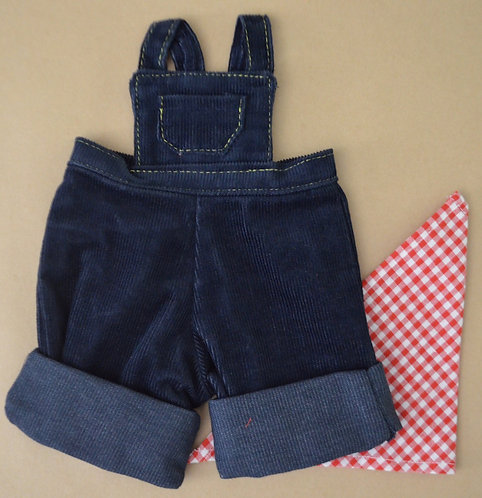 Alice's Bear Shop by Charlie Bears - Clothing - Cobby's Dungarees Set - Blue