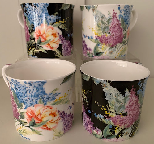 Heritage Fine Bone China Princess Mug Set 4 - Ambrosia